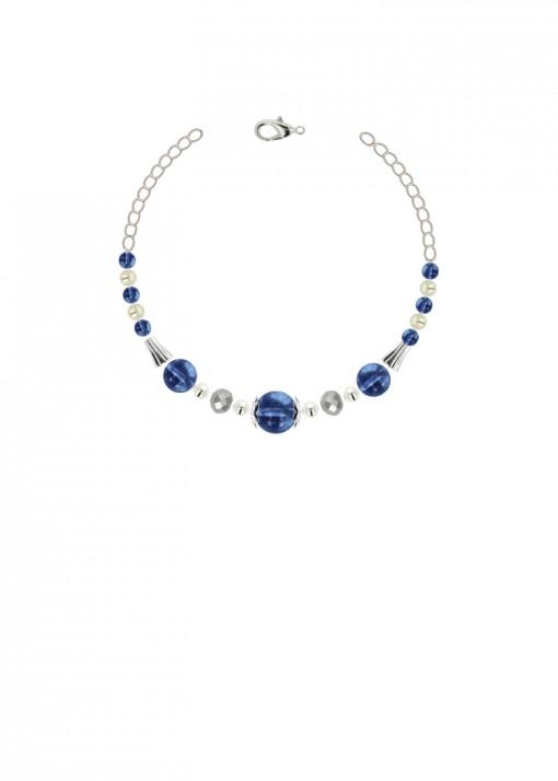 Azure Quartz Metallic Bracelet