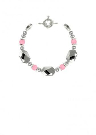 Chunky Silver Blossom Bracelet