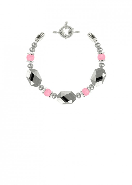Silver Blossom Chunky Bracelet