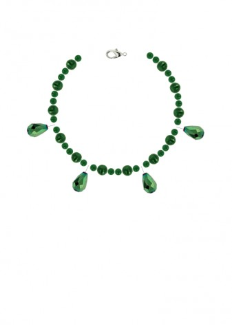 Agate Emerald Envy Charm Bracelet