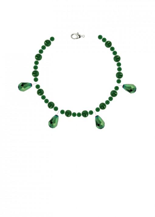Emerald Envy Agate Charm Bracelet