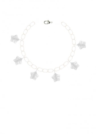 Quartz Clear Sky Charm Bracelet