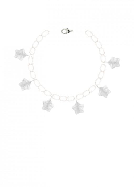 Clear Sky Quartz Charm Bracelet