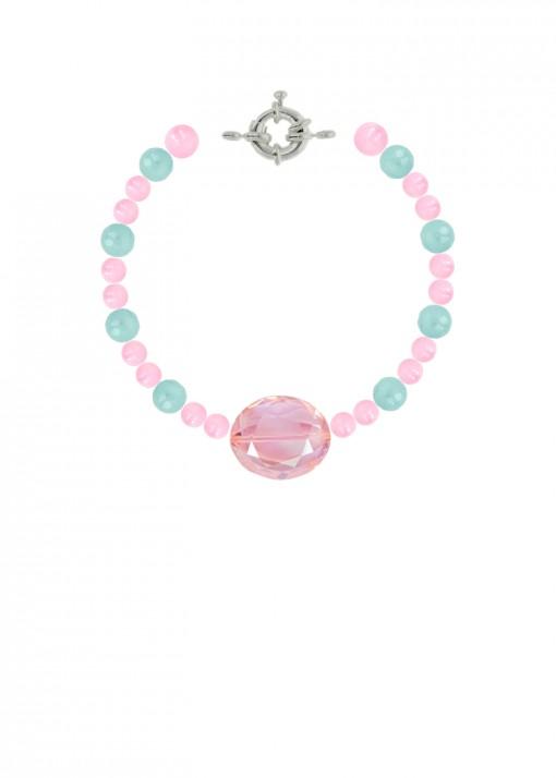 Bubblegum Princess Beaded Bracelet