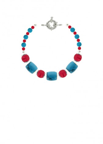 Jade Beaded Cherry Ocean Bracelet