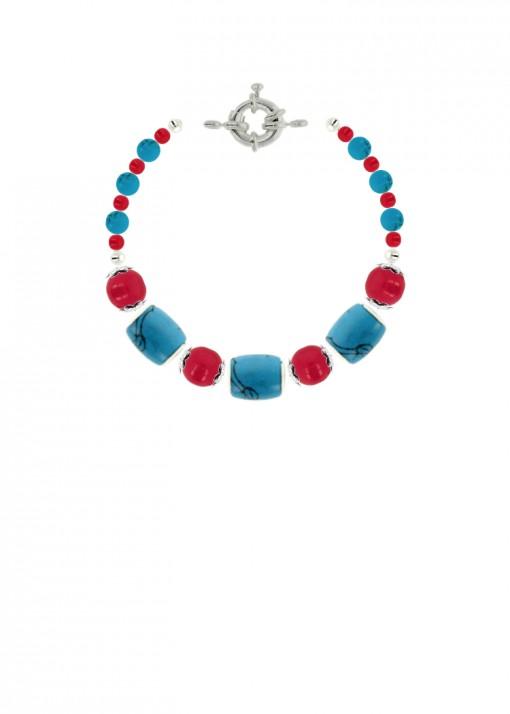 Cherry Ocean Beaded Jade Bracelet