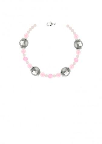 Chunky Rose Quartz Shimmer Bracelet