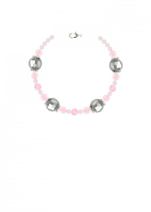 Rose Quartz Shimmer Chunky Bracelet
