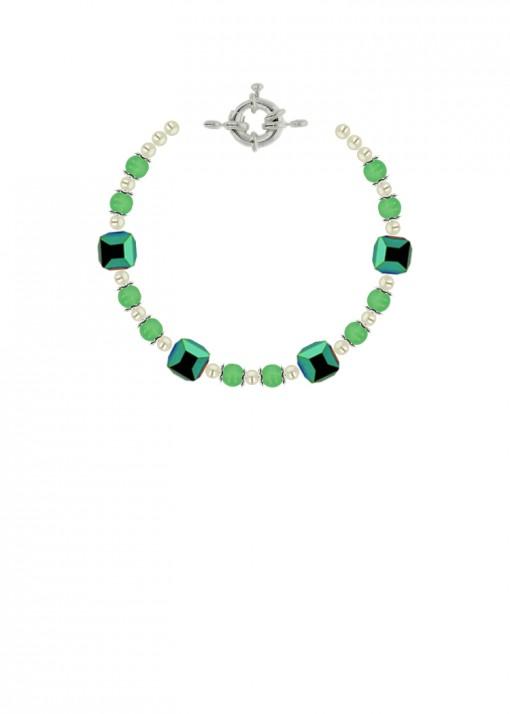 Green Dream Beaded Bracelet