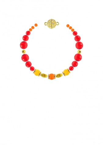 Jade Scarlet Sunrise Bracelet