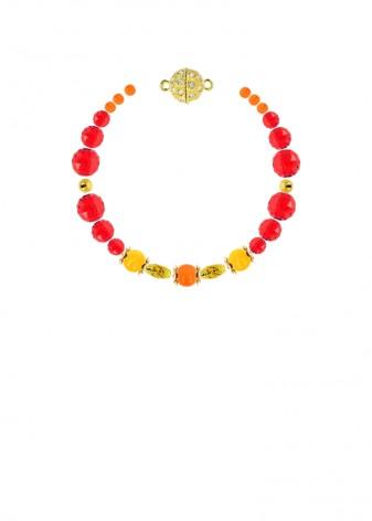 Jade Scarlet Sunrise Bracelet