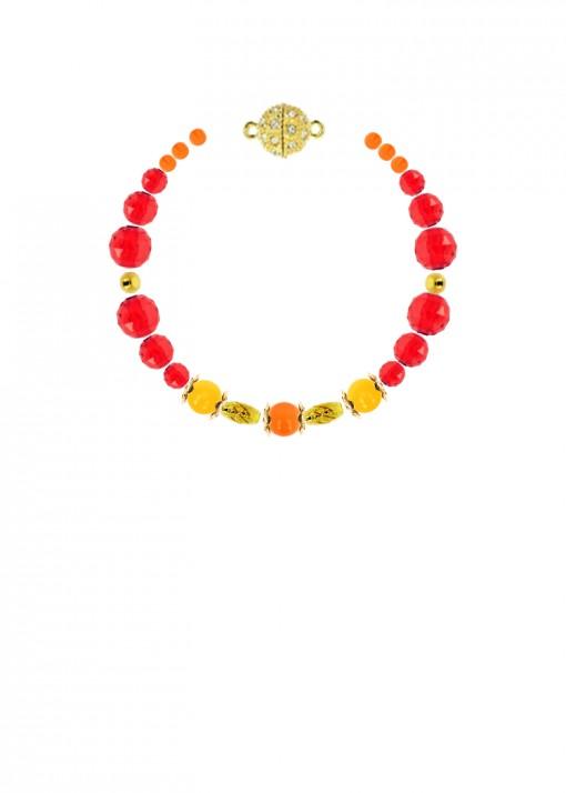 Scarlet Sunrise Jade Bracelet
