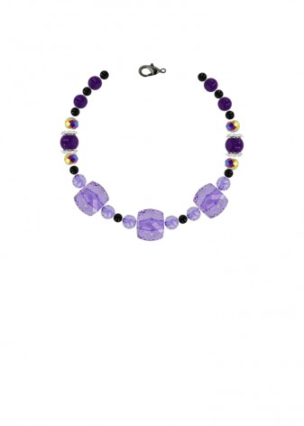 Beaded Blackcurrant Bracelet