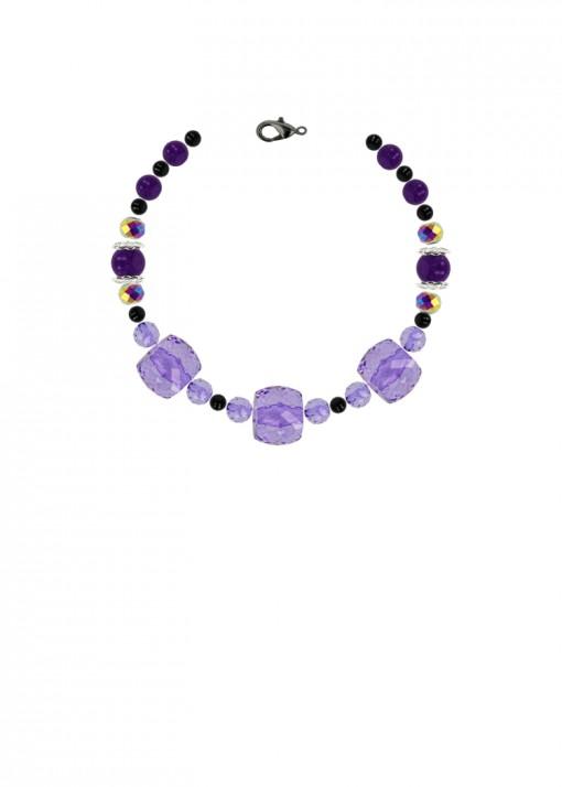Blackcurrant Beaded Bracelet