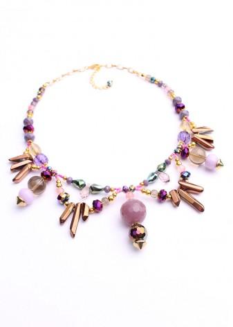 Pendulum Beaded Necklace
